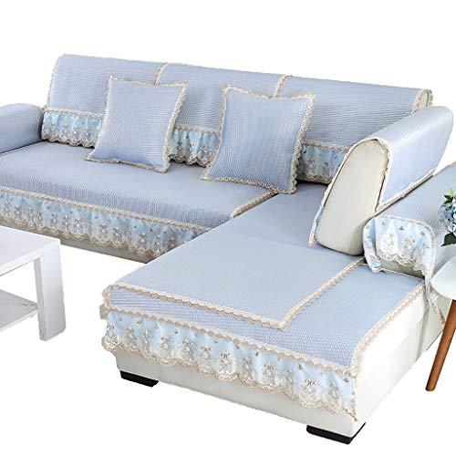 GDSFT Sofa Covers, Summer Sofa Cushion Cool Mat Living Room Universal Cushion Ice Silk Rattan mat Non-Slip Sofa Cover Settee Pet Dog Protector (Size : 70180CM(2870in))