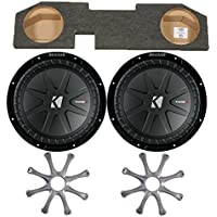 Kicker for Dodge Ram Quad / Crew Cab 02-15 - Dual 12 CompR subs in box w/ Grilles
