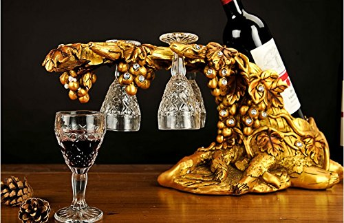 European fashion peacock resin wine rack Home Furnishing gift room hotel wine wine rack zj0124215 ( Color : Silver ) by Supper pp