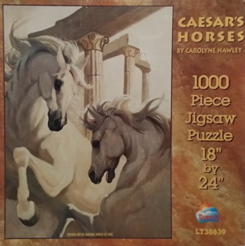 SunsOut Caesar's Horses 1000 Piece Puzzle art by Carolyne Hawley by SunsOut