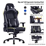 KILLABEE Big and Tall 400lb Memory Foam Gaming Chair - Adjustable...