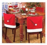 "Christmas House 20"" Santa Hat Chair Covers"