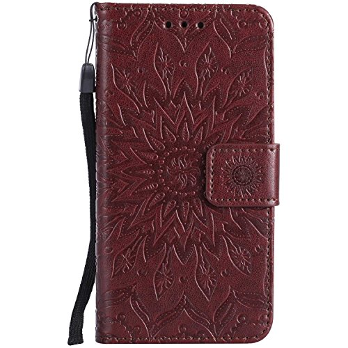 Case Galaxy J2 Prime, Bear Village Leather Case Inner Stand Function Card Slot Flip Cover, Flip Phone Protective Case for Samsung Galaxy J2 Prime (#4 Brown)