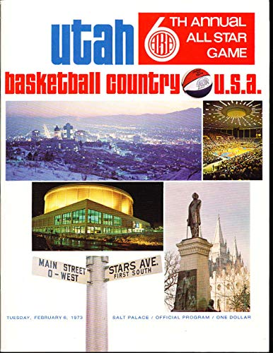 1973 ABA all Star Game Program em san antonio paper write up included from P&R publications