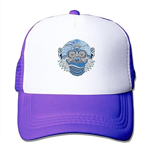 Monkey Pattern (Cuihualili Pattern Monkey Cartoon Feather Women's Mesh Unisex Snapback Baseball Trucker Hats)