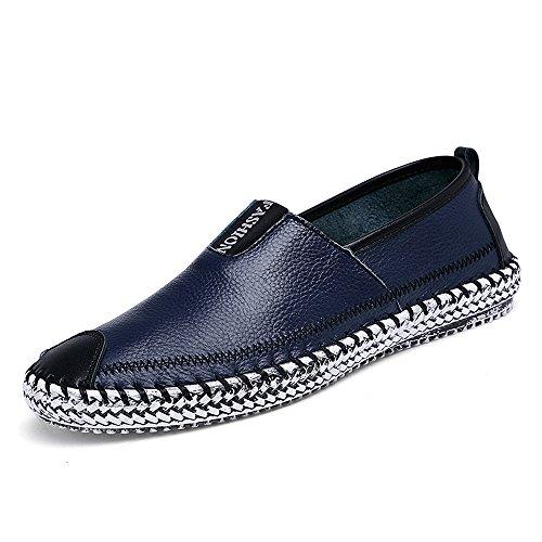 Cooga Menns Skinn Lave Herresko To Design Mote Loafers Svart