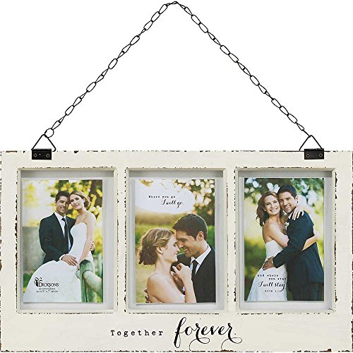 Dicksons Together Forever Weathered Three Window 5 x 7 Hanging Wall Plaque Photo Frame