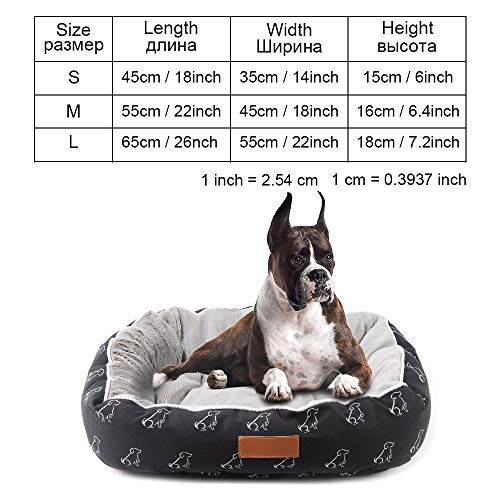 Cookisn Dog Bed Bench Dog Beds Mats for Small Medium Large Dogs Puppy Bed Cat Pet Kennel Lounger Dog Bed Sofa House for Cat Pet Products py0102 M