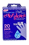 Diane Pro Color Glove, Black, Size Medium (Pack of 20)
