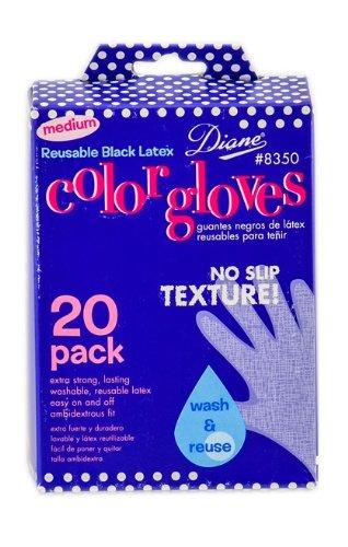 Diane Pro Color Glove, Black, Size Medium (Pack of 20)