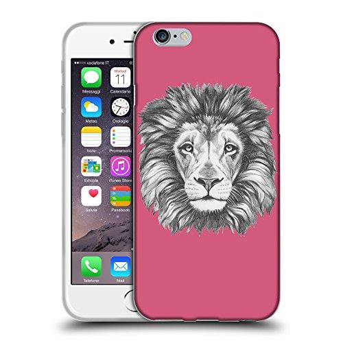 "GoGoMobile Coque de Protection TPU Silicone Case pour // Q05160614 Dessin lion Rougir // Apple iPhone 6 PLUS 5.5"""