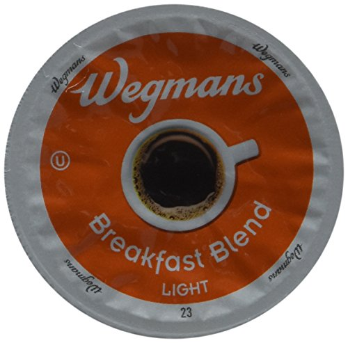 Wegman's Breakfast Blend Light Roast Single Serve K-Cups Case of 72 by Wegmans