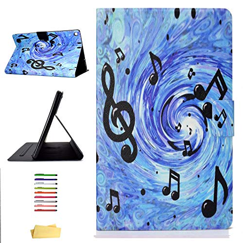 (UUcovers Kindle Fire HD 10 Tablet 2017/2015 Case (7th/5th Generation), Blue Stand Synthetic Leather TPU Back Shockproof Cover with Auto Wake/Sleep Card Holder for Amazon Fire HD 10 10.1