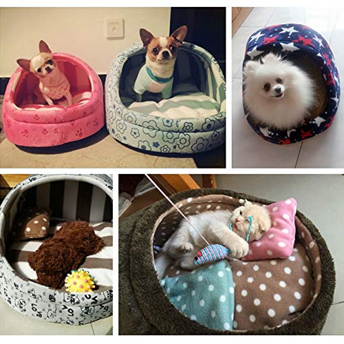 Flyingpets Dog Pillow Bed - Dog Bed Pillow - Large Dog Bed Pillow - Pet Bed Dog House Kennel Puppy Cat Litter Bed Home Shape Nest Sofa Indoor Small Dogs Cats Cushion Removable Pillow Chihuahua Mat. by Flyingpets (Image #5)