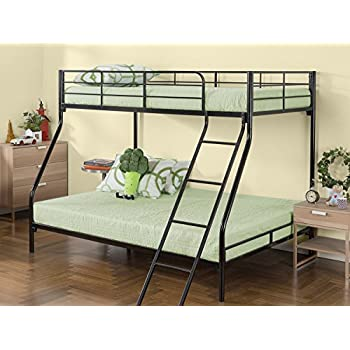sturdy kids sturdy twin over full metal bunk bed with stairs this durable steel. Black Bedroom Furniture Sets. Home Design Ideas