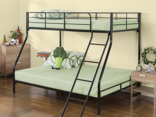- Zinus Hani Easy Assembly Quick Lock Metal Bunk Bed / Quick To Assemble in Under an Hour / Twin over Full