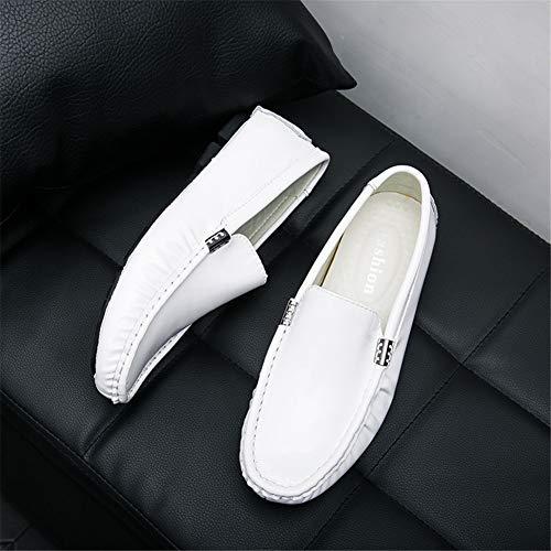 Cómodo De Shoesround blue Mocasines Guisantes Gpf Zapatos Toe Transpirable White Calzado 45 Ocio Los Hombres Moda fei Lazy SwxP1EqA