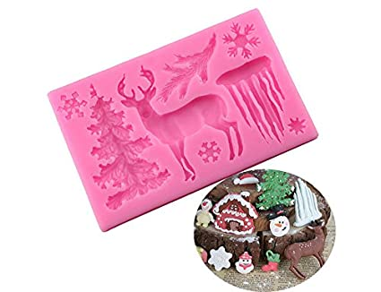 Clay Baking Tool Chocolate Mould Snowflake Silicone Mold Sugar Paste Fondant Home, Furniture & DIY