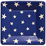 Entertaining with Caspari Stars Paper Salad/Dessert Plates, Pack of 8