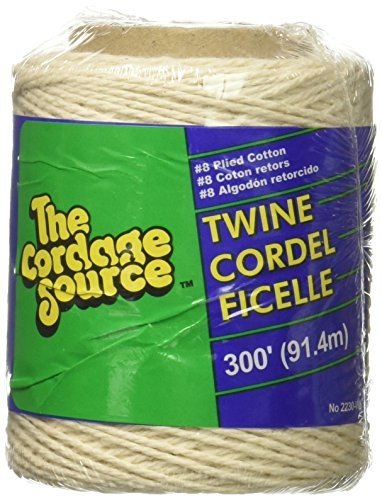 CORDAGE SOURCE 2230 No.8 Cotton Twine, 300-Feet - Cordage Source Poly Twine