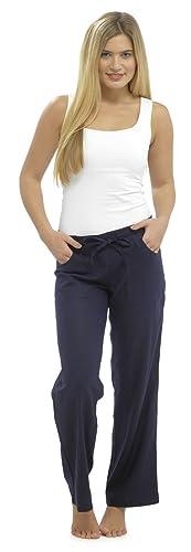 de mujer pantalones de lino pantalón pantalones casuales corte holgado talla 10 12 14 16 18