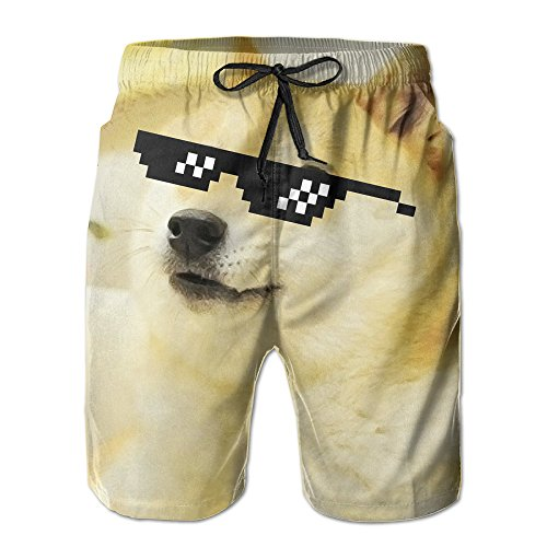Doge Sunglasses Swag Casual Beach Shorts For Men - Sunglasses Amy Childs