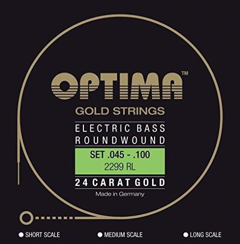 Optima 2299 LS Bass GOLD Strings, Long Scale, regular light