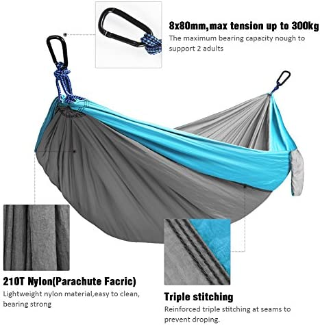 Kootek Camping Hammock Double Single Portable Hammocks