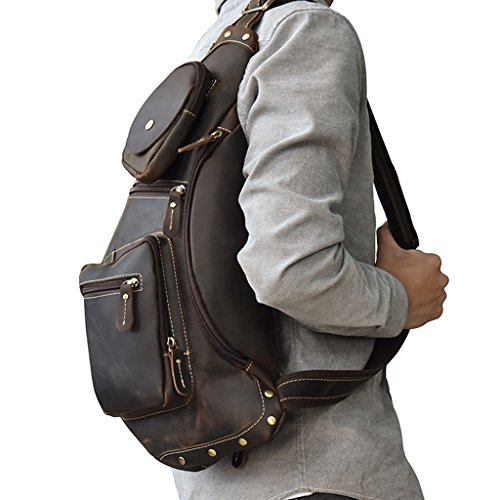 Leather Large Shoulder Design Briefcases Bags 2 Messenger Men's 2 Capacity Vintage Sucastle p7qwR17