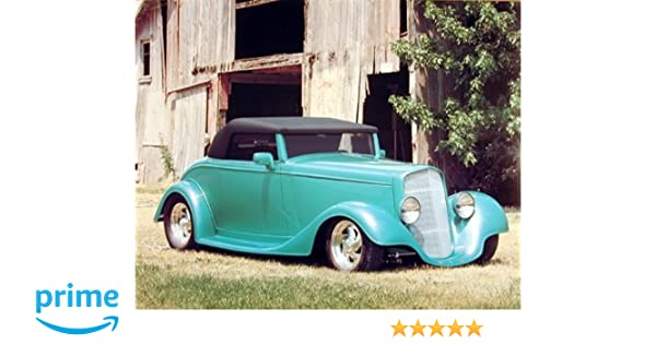 1934 Chevy Cabriolet Classic Car Vintage Automobile Wall Decor Art Print  Poster (16x20)