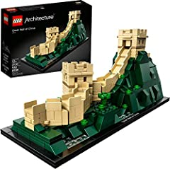 Discover the architectural secrets of theGreat Wall of ChinaWorld Heritage site with this LEGO Architecture 21041The Great Wall of China collectible building. Explore the ingenious building techniques that allow the structure to drape acro...