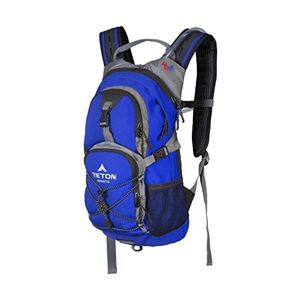 MOCHILA TETON SPORTS OASIS 1100 DE HIDRATACIÓN DE 2 LITROS; Perfecto para esquiar, correr, andar en bicicleta, caminar, escalar y cazar; 2 litros de vejiga de agua incluidos; Incluye funda de lluvia gratuita