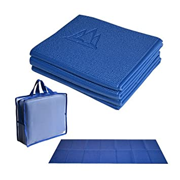 diversified in packaging outlet for sale attractive colour Khataland YoFoMat - Ultra Thick Best Foldable Yoga Mat with Travel Bag,  Extra Long 72-Inch, Free From Phthalates & Latex