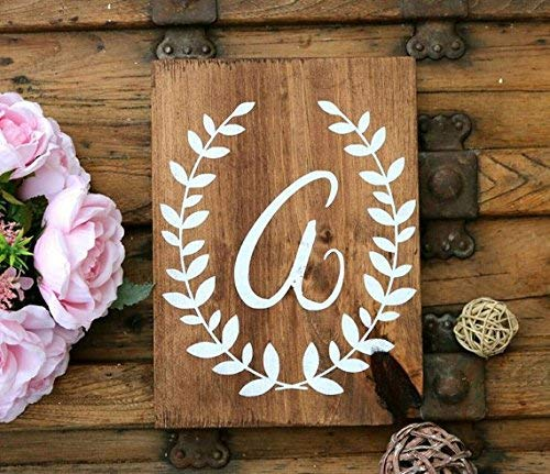 (Funlaugh Wood Sign for Baby Nursery Nursery Wall Letters Sign for Kids Room New Baby Gift Mahogany)