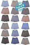 Chereskin Men's 18 Pack Full Cut Cotton Boxers Sleep Shorts Value Pack