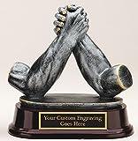 ARM Wrestling AWARD Trophy Resin Cast Sculpture Laser Engraved 5 1/2''