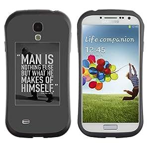 Paccase / Suave TPU GEL Caso Carcasa de Protección Funda para - man is inspirational motivational student - Samsung Galaxy S4 I9500