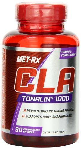 MET Rx CLA Tonalin 1000 Supplement, Supports Weight Loss and Toning, 90 Softgels