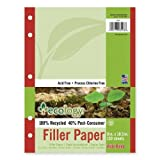 Wholesale CASE of 25 - Pacon Ecology 100% Recycled Filler Paper-Filer Paper,Wide Ruled,5 Hole Punch,8''x10-1/2'',150 Sh/PK