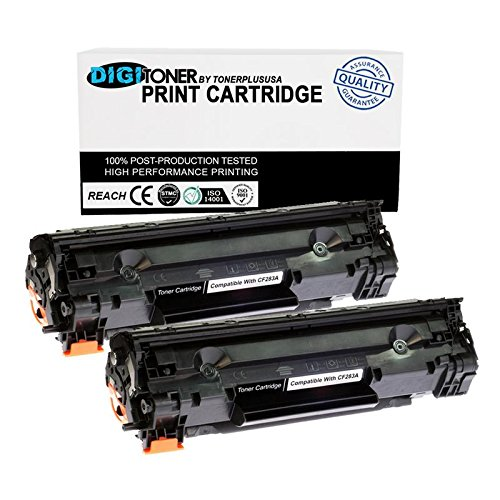 TonerPlusUSA Compatible Toner Cartridge Replacement for HP CF283A ( Black , 2-Pack )