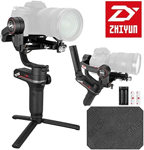 2020 Zhiyun Weebill S[Official Standard Package] 3-Axis Gimbal for Mirrorless and DSLR Cameras, Tripod, Carrying Case, Cleaning kit, 14 Hours Running Time, 1 Year Limited Warranty