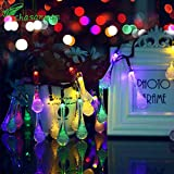 New Year Decor Christmas Decoration For Home Christmas CHASANWAN Solar Lights 3M 20LED Waterproof Light String solar lamp gerland new Year christmas decorations for home garden light (Random)