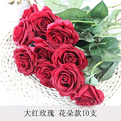 Phenomenal Sloybaden 10 Rose Artificial Flower Floral Set Fake Flowers Home Remodeling Inspirations Cosmcuboardxyz