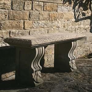 Grandes bancos de jardín–individual recto Plain banco de piedra