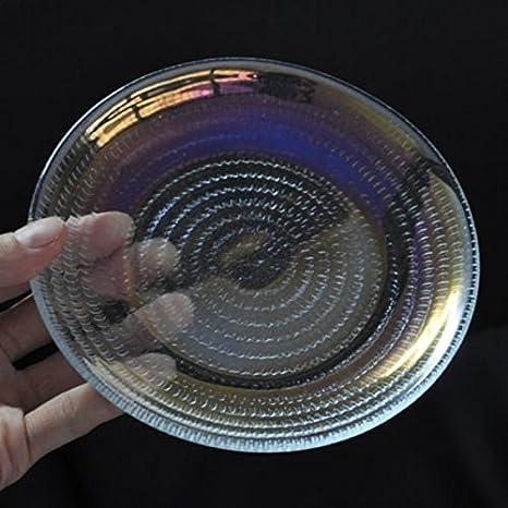 Nuevo Rainbow Color transparente cristal bandeja para creación ...