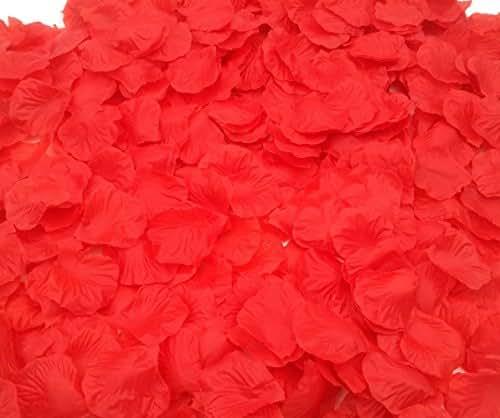 CODE FLORIST 2200 PCS Red Silk Rose Petals Wedding Flower Decoration