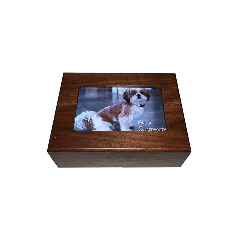 dog supplies online imagine this pet urn picture frame box, 8 by 6 by 2.75-inch