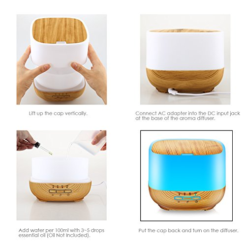 TomCare-500ML-Square-Essential-Oil-Diffuser-Humidifiers-Ultrasonic-Aromatherapy-Diffusers-with-4-Timer-Settings-7-Color-Changing-and-Waterless-Auto-Shut-off-for-Home-Office-Living-Room-Yoga-Spa