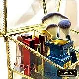 LORIINI Golden Vintage Metal & Glass Cosmetic