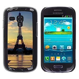 - Paris Eiffel Tower - - Monedero pared Design Premium cuero del tir¨®n magn¨¦tico delgado del caso de la cubierta pata de ca FOR Samsung Galaxy S3 Mini I8190 Funny House